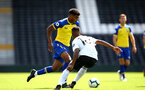 LONDON, ENGLAND - SEPTEMBER 01: Marcus Barnes (middle) during the U23s PL2 match between Fulham FC and Southampton FC on September 01, 2018 in London, England. (Photo by James Bridle - Southampton FC/Southampton FC via Getty Images)