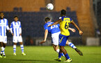 COLCHESTER, ENGLAND - SEPTEMBER 04: Micheal Obafemi (right) during the Check a Trade Cup match between Colchester United vs Southampton FC at Jobserve Community Stadium on September 04, 2018 in Colchester, England. (Photo by James Bridle - Southampton FC/Southampton FC via Getty Images)
