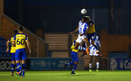 COLCHESTER, ENGLAND - SEPTEMBER 04: Aaron OÕDriscoll (right) during the Check a Trade Cup match between Colchester United vs Southampton FC at Jobserve Community Stadium on September 04, 2018 in Colchester, England. (Photo by James Bridle - Southampton FC/Southampton FC via Getty Images) COLCHESTER, ENGLAND - SEPTEMBER 04: Aaron O'Driscoll (right) during the Check a Trade Cup match between Colchester United vs Southampton FC at Jobserve Community Stadium on September 04, 2018 in Colchester, England. (Photo by James Bridle - Southampton FC/Southampton FC via Getty Images)