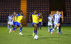 COLCHESTER, ENGLAND - SEPTEMBER 04: Micheal Obafemi (middle) during the Check a Trade Cup match between Colchester United vs Southampton FC at Jobserve Community Stadium on September 04, 2018 in Colchester, England. (Photo by James Bridle - Southampton FC/Southampton FC via Getty Images)