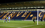COLCHESTER, ENGLAND - SEPTEMBER 04: Marcus Barnes of Southampton FC (left) scores during the Check a Trade Cup match between Colchester United vs Southampton FC at Jobserve Community Stadium on September 04, 2018 in Colchester, England. (Photo by James Bridle - Southampton FC/Southampton FC via Getty Images)
