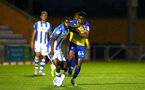COLCHESTER, ENGLAND - SEPTEMBER 04: Nathan Tella (right) of Southampton FC  during the Check a Trade Cup match between Colchester United vs Southampton FC at Jobserve Community Stadium on September 04, 2018 in Colchester, England. (Photo by James Bridle - Southampton FC/Southampton FC via Getty Images)