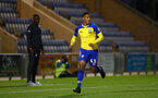 COLCHESTER, ENGLAND - SEPTEMBER 04: Yan Valery during the Check a Trade Cup match between Colchester United vs Southampton FC at Jobserve Community Stadium on September 04, 2018 in Colchester, England. (Photo by James Bridle - Southampton FC/Southampton FC via Getty Images)