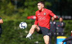 Pierre-Emile Hojbjerg during a Southampton FC training session, at the Staplewood Campus, Southampton, 6th September 2018