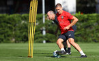 Oriol Romeu during a Southampton FC training session, at the Staplewood Campus, Southampton, 6th September 2018