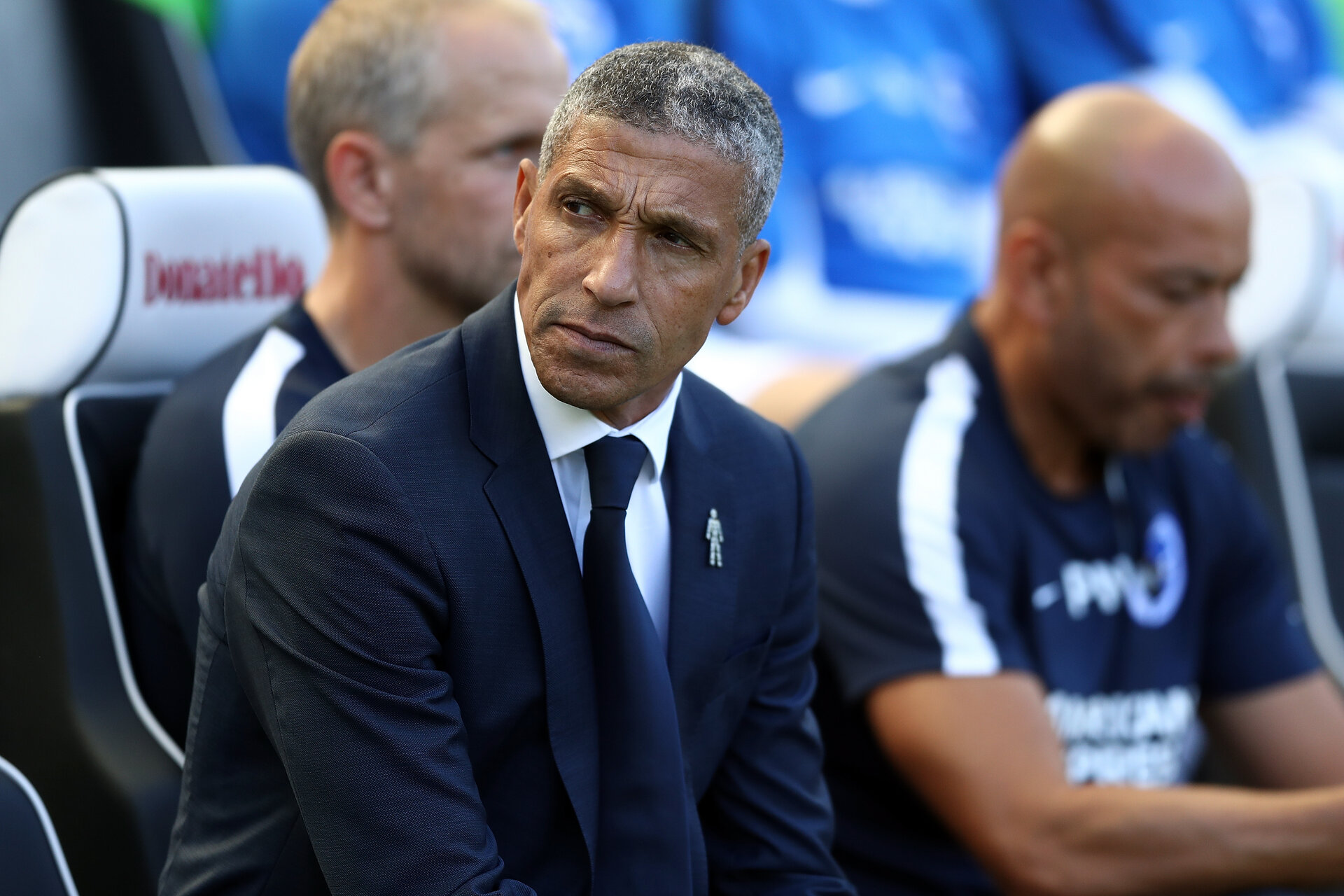 BRIGHTON, ENGLAND - SEPTEMBER 01:  Chris Hughton, Manager of Brighton and Hove Albion looks on prior to the Premier League match between Brighton & Hove Albion and Fulham FC at American Express Community Stadium on September 1, 2018 in Brighton, United Kingdom.  (Photo by Bryn Lennon/Getty Images)