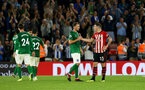 SOUTHAMPTON, ENGLAND - SEPTEMBER 17: Pierre-Emile H¿jbjerg of Southampton FC  (right) during the Premier League match between Southampton FC and Brighton & Hove Albion at St Mary's Stadium on September 17, 2018 in Southampton, United Kingdom. (Photo by James Bridle - Southampton FC/Southampton FC via Getty Images) SOUTHAMPTON, ENGLAND - SEPTEMBER 17: Pierre-Emile Højbjerg of Southampton FC  (right) during the Premier League match between Southampton FC and Brighton & Hove Albion at St Mary's Stadium on September 17, 2018 in Southampton, United Kingdom. (Photo by James Bridle - Southampton FC/Southampton FC via Getty Images)