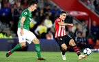 SOUTHAMPTON, ENGLAND - SEPTEMBER 17: Mohamed Elyounoussi of Southampton shoots during the Premier League match between Southampton FC and Brighton & Hove Albion at St Mary's Stadium on September 17, 2018 in Southampton, United Kingdom.  (Photo by Southampton FC/Southampton FC via Getty Images) *** Local Caption *** Mohamed Elyounoussi SOUTHAMPTON, ENGLAND - SEPTEMBER 17: Mohamed Elyounoussi of Southampton shoots during the Premier League match between Southampton FC and Brighton & Hove Albion at St Mary's Stadium on September 17, 2018 in Southampton, United Kingdom.  (Photo by Southampton FC/Southampton FC via Getty Images)