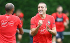 SOUTHAMPTON, ENGLAND - SEPTEMBER 20: Oriol Romeu(R) during a Southampton FC training session at Staplewood Complex on September 20, 2018 in Southampton, England. (Photo by Matt Watson/Southampton FC via Getty Images)
