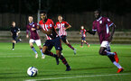 SOUTHAMPTON, ENGLAND - SEPTEMBER 21: Marcus Barnes (left) during the PL2 match between Southampton FC and Aston Villa FC at Staplewood Training Ground on September 21, 2018 in Southampton, United Kingdom. (Photo by James Bridle - Southampton FC/Southampton FC via Getty Images)