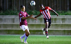SOUTHAMPTON, ENGLAND - SEPTEMBER 21: Michael Obafemi (right) during the PL2 match between Southampton FC and Aston Villa FC at Staplewood Training Ground on September 21, 2018 in Southampton, United Kingdom. (Photo by James Bridle - Southampton FC/Southampton FC via Getty Images)