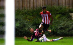 SOUTHAMPTON, ENGLAND - SEPTEMBER 21: Marcus Barnes (middle) during the PL2 match between Southampton FC and Aston Villa FC at Staplewood Training Ground on September 21, 2018 in Southampton, United Kingdom. (Photo by James Bridle - Southampton FC/Southampton FC via Getty Images)
