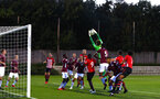 SOUTHAMPTON, ENGLAND - SEPTEMBER 21: LtoR Callum Slattery, Aaron O'Driscoll, Michael Obafemi, Thomas O'Connor, Marcus Barnes during the PL2 match between Southampton FC and Aston Villa FC at Staplewood Training Ground on September 21, 2018 in Southampton, United Kingdom. (Photo by James Bridle - Southampton FC/Southampton FC via Getty Images)