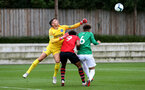 SOUTHAMPTON, ENGLAND - SEPTEMBER 22: Christian Norton (middle) during the U18 Premier League match between Southampton FC and Brighton Hove Albion at Staplewood Training Ground on September 22, 2018 in Southampton, United Kingdom. (Photo by James Bridle - Southampton FC/Southampton FC via Getty Images)