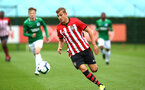 SOUTHAMPTON, ENGLAND - SEPTEMBER 22: Kornlius Hansen during the U18 Premier League match between Southampton FC and Brighton Hove Albion at Staplewood Training Ground on September 22, 2018 in Southampton, United Kingdom. (Photo by James Bridle - Southampton FC/Southampton FC via Getty Images)