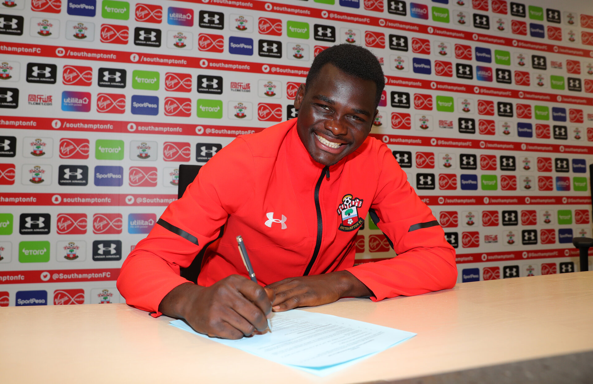 Pascal Kpohomouh signs a professional contract with Southampton FC, pictured at the Staplewood Campus, 24th September 2018