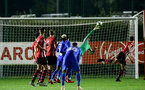 SOUTHAMPTON, ENGLAND - SEPTEMBER 26: Harry lewis makes a vital save for Southampton FC during the International Cup where Southampton FC play FC Porto pictured at Southampton training session at Staplewood Complex on September 26, 2018 in Southampton, England. (Photo by James Bridle - Southampton FC/Southampton FC via Getty Images)