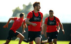 SOUTHAMPTON, ENGLAND - SEPTEMBER 27: Stuart Armstrong during a Southampton FC training session at Staplewood Complex on September 27, 2018 in Southampton, England. (Photo by James Bridle - Southampton FC/Southampton FC via Getty Images)