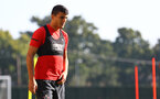 SOUTHAMPTON, ENGLAND - SEPTEMBER 27: Mohamed Elyounoussi during a Southampton FC training session at the Staplewood Campus on September 27, 2018 in Southampton, England. (Photo by Matt Watson/Southampton FC via Getty Images)