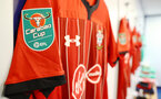 LIVERPOOL, ENGLAND - OCTOBER 02: inside the dressing room of Southampton during the Carabao Cup Third Round match between Everton and Southampton at Goodison Park on October 2nd, 2018 in Liverpool, England. (Photo by Matt Watson/Southampton FC via Getty Images)