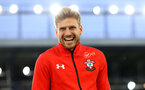 LIVERPOOL, ENGLAND - OCTOBER 02: Stuart Armstrong of Southampton ahead of the Carabao Cup Third Round match between Everton and Southampton at Goodison Park on October 2nd, 2018 in Liverpool, England. (Photo by Matt Watson/Southampton FC via Getty Images)