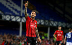LIVERPOOL, ENGLAND - OCTOBER 02: Danny Ings of Southampton celebrates after putting his team 1-0 up during the Carabao Cup Third Round match between Everton and Southampton at Goodison Park on October 2nd, 2018 in Liverpool, England. (Photo by Matt Watson/Southampton FC via Getty Images)