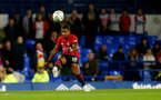 LIVERPOOL, ENGLAND - OCTOBER 02: Mario Lemina of Southampton during the Carabao Cup Third Round match between Everton and Southampton at Goodison Park on October 2nd, 2018 in Liverpool, England. (Photo by Matt Watson/Southampton FC via Getty Images)
