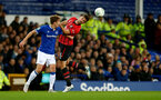 LIVERPOOL, ENGLAND - OCTOBER 02: Jack Stephens(R) of Southampton during the Carabao Cup Third Round match between Everton and Southampton at Goodison Park on October 2nd, 2018 in Liverpool, England. (Photo by Matt Watson/Southampton FC via Getty Images)