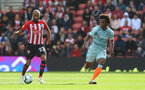 SOUTHAMPTON, ENGLAND - OCTOBER 07: Nathan Redmond of Southampton on the ball during the Premier League match between Southampton FC and Chelsea FC at St Mary's Stadium on October 7, 2018 in Southampton, United Kingdom. (Photo by Matt Watson/Southampton FC via Getty Images)