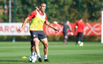 SOUTHAMPTON, ENGLAND - OCTOBER 09: Oriol Romeu during a Southampton FC training session at the Staplewood Campus on October 9, 2018 in Southampton, England. (Photo by Matt Watson/Southampton FC via Getty Images)