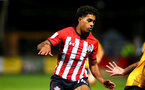 CAMBRIDGE, ENGLAND - OCTOBER 09: Christian Norton (middle) of Southampton FC during the U21s Checkatade Trophy between Cambridge United and Southampton FC pictured at Abbey Stadium on October 9, 2018 in Cambridge, England. (Photo by James Bridle - Southampton FC/Southampton FC via Getty Images)