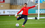 CAMBRIDGE, ENGLAND - OCTOBER 09: Harry lewis of Southampton FC warms up ahead of the U21s Checkatade Trophy between Cambridge United and Southampton FC pictured at Abbey Stadium on October 9, 2018 in Cambridge, England. (Photo by James Bridle - Southampton FC/Southampton FC via Getty Images)