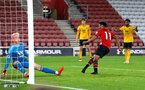 SOUTHAMPTON, ENGLAND - OCTOBER 19: Marcus Barnes scores (Middle) during the PL2 match between Southampton FC and Wolves pictured at St Mary's Stadium on October 19, 2018 in Southampton, England. (Photo by James Bridle - Southampton FC/Southampton FC via Getty Images)
