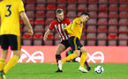 SOUTHAMPTON, ENGLAND - OCTOBER 19: Aaron O'Driscoll (middle) during the PL2 match between Southampton FC and Wolves pictured at St Mary's Stadium on October 19, 2018 in Southampton, England. (Photo by James Bridle - Southampton FC/Southampton FC via Getty Images)