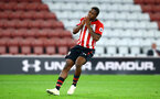 SOUTHAMPTON, ENGLAND - OCTOBER 19: Nathan Tella substituted on as Sam Gallagher comes off, Radhi Jaidi (right) during the PL2 match between Southampton FC and Wolves pictured at St Mary's Stadium on October 19, 2018 in Southampton, England. (Photo by James Bridle - Southampton FC/Southampton FC via Getty Images)