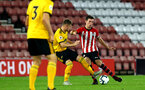 SOUTHAMPTON, ENGLAND - OCTOBER 19: Thomas O'Connor (Right) during the PL2 match between Southampton FC and Wolves pictured at St Mary's Stadium on October 19, 2018 in Southampton, England. (Photo by James Bridle - Southampton FC/Southampton FC via Getty Images)