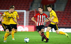 SOUTHAMPTON, ENGLAND - OCTOBER 19: Thomas O'Connor (middle) during the PL2 match between Southampton FC and Wolves pictured at St Mary's Stadium on October 19, 2018 in Southampton, England. (Photo by James Bridle - Southampton FC/Southampton FC via Getty Images)