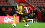 SOUTHAMPTON, ENGLAND - OCTOBER 19: Michael Obafemi (left) during the PL2 match between Southampton FC and Wolves pictured at St Mary's Stadium on October 19, 2018 in Southampton, England. (Photo by James Bridle - Southampton FC/Southampton FC via Getty Images)