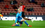 SOUTHAMPTON, ENGLAND - OCTOBER 19: Michael Obafemi Scores during the PL2 match between Southampton FC and Wolves pictured at St Mary's Stadium on October 19, 2018 in Southampton, England. (Photo by James Bridle - Southampton FC/Southampton FC via Getty Images)