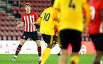SOUTHAMPTON, ENGLAND - OCTOBER 19: Sam Gallagher (left) during the PL2 match between Southampton FC and Wolves pictured at St Mary's Stadium on October 19, 2018 in Southampton, England. (Photo by James Bridle - Southampton FC/Southampton FC via Getty Images)