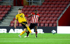 SOUTHAMPTON, ENGLAND - OCTOBER 19: Michael Obafemi (Middle) during the PL2 match between Southampton FC and Wolves pictured at St Mary's Stadium on October 19, 2018 in Southampton, England. (Photo by James Bridle - Southampton FC/Southampton FC via Getty Images)