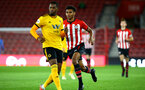 SOUTHAMPTON, ENGLAND - OCTOBER 19: Marcus Barnes (right) during the PL2 match between Southampton FC and Wolves pictured at St Mary's Stadium on October 19, 2018 in Southampton, England. (Photo by James Bridle - Southampton FC/Southampton FC via Getty Images)