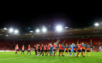 SOUTHAMPTON, ENGLAND - OCTOBER 19: Walk out ahead of the PL2 match between Southampton FC and Wolves pictured at St Mary's Stadium on October 19, 2018 in Southampton, England. (Photo by James Bridle - Southampton FC/Southampton FC via Getty Images)
