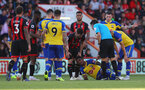BOURNEMOUTH, ENGLAND - OCTOBER 20: Mario Lemina of Southampton down injured during the Premier League match between AFC Bournemouth and Southampton FC at Vitality Stadium on October 20, 2018 in Bournemouth, United Kingdom. (Photo by Matt Watson/Southampton FC via Getty Images)