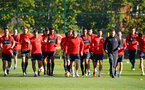 SOUTHAMPTON, ENGLAND - OCTOBER 22: Southampton FC players during a Southampton FC training session at Staplewood Complex on October 22, 2018 in Southampton, England. (Photo by James Bridle - Southampton FC/Southampton FC via Getty Images)