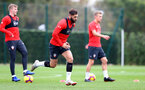 SOUTHAMPTON, ENGLAND - OCTOBER 25: Charlie Austin during a Southampton FC training session at the Staplewood Campus on October 25, 2018 in Southampton, United Kingdom. (Photo by Matt Watson/Southampton FC via Getty Images)