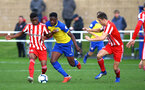 SUNDERLAND, ENGLAND - OCTOBER 28:Jonathan Afolabi (middle)  during the during the U23s Premier League 2 match between Sunderland and Southampton FC, 2018 in Sunderland, England. (Photo by James Bridle - Southampton FC/Southampton FC via Getty Images)