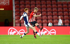SOUTHAMPTON, ENGLAND - NOVEMBER 02: Aaron ODriscoll (right) during the U23s Premier League 2 match between Southampton FC and Westbrom Albion FC, 2018 in Southampton, England. (Photo by James Bridle - Southampton FC/Southampton FC via Getty Images)