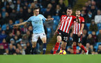 MANCHESTER, ENGLAND - NOVEMBER 04: Pierre-Emile Hojbjerg(R) of Southampton and Phil Foden(L) of Manchester City during the Premier League match between Manchester City and Southampton FC at Etihad Stadium on November 4, 2018 in Manchester, United Kingdom. (Photo by Matt Watson/Southampton FC via Getty Images)