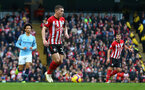 MANCHESTER, ENGLAND - NOVEMBER 04: Pierre-Emile Hojbjerg of Southampton during the Premier League match between Manchester City and Southampton FC at Etihad Stadium on November 4, 2018 in Manchester, United Kingdom. (Photo by Matt Watson/Southampton FC via Getty Images)